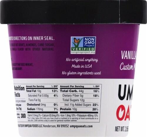 Umpqua Oats Vanilla Almond Custom Milled Oatmeal Perspective: left