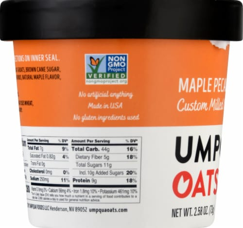 Umpqua Oats Maple Pecan Custom Milled Oatmeal Perspective: left