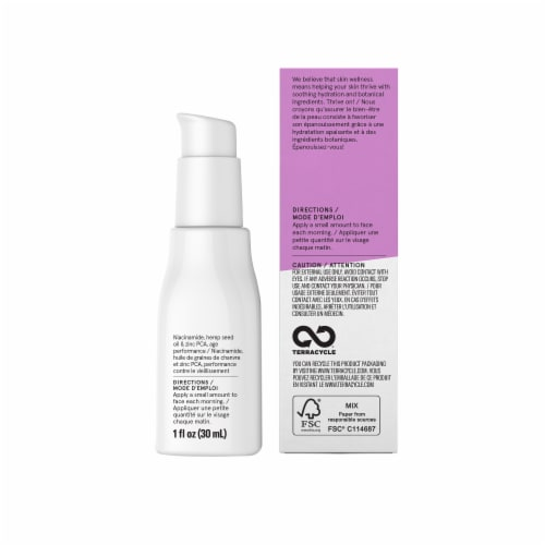 Acure Radically Rejuvenating Niacinamide Serum Perspective: left