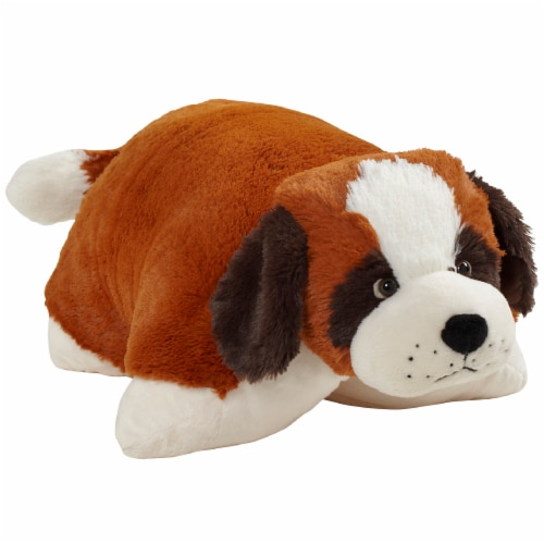 Pillow Pets St. Bernard Plush Toy Perspective: left