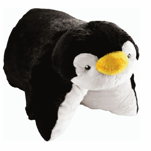 Pillow Pets Jumboz Playful Penguin Plush Toy Perspective: left