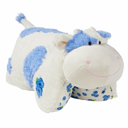 Pillow Pets Sweet Blueberry Scented Cow Plush Toy Perspective: left