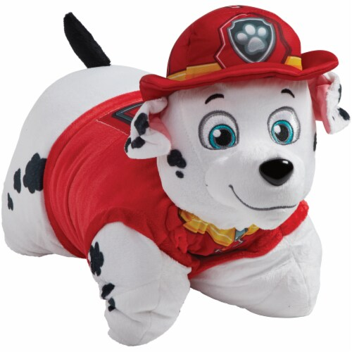 Pillow Pets Jumboz Nickelodeon Paw Patrol Marshall Plush Toy Perspective: left