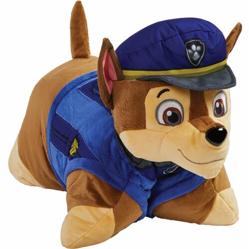 Pillow Pets Jumboz Nickelodeon Paw Patrol Chase Plush Toy Perspective: left