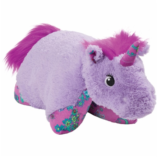 Pillow Pets Colorful Lavender Unicorn Plush Toy Perspective: left
