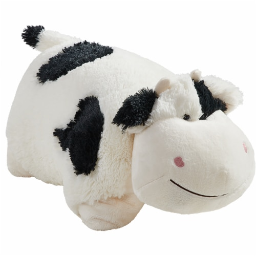 Pillow Pets Jumboz Cozy Cow Plush Toy Perspective: left