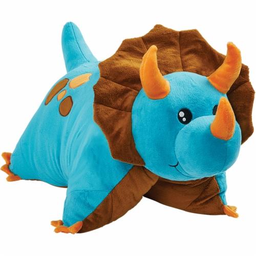 Pillow Pets Dinosaur Plush Toy - Blue Perspective: left