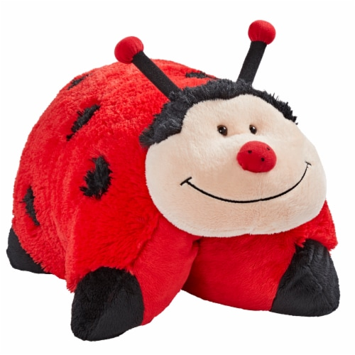 Pillow Pets Original Ladybug Plush Toy Perspective: left
