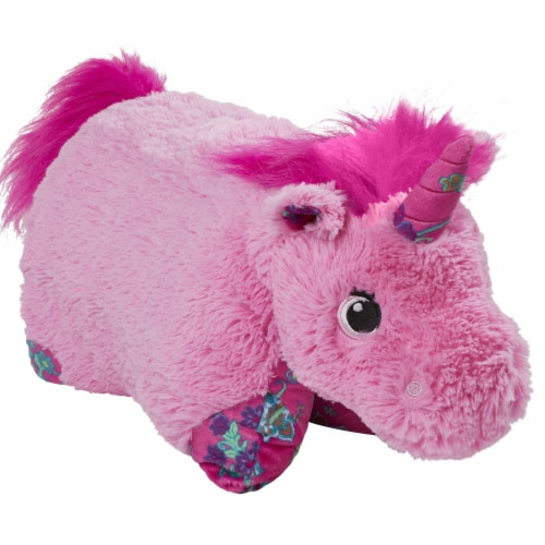 Pillow Pets Colorful Unicorn Plush Toy Combo Pack - Pink & Lavender Perspective: left