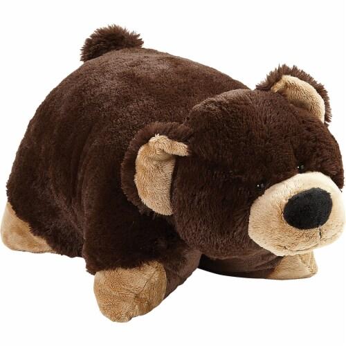 Pillow Pets Jumboz Original Mr. Bear Plush Toy Perspective: left
