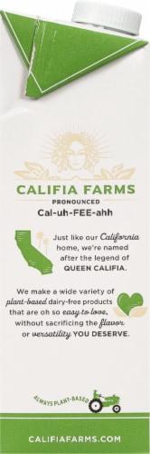 Califia Farms Unsweetened Almond Milk Creamer Perspective: left