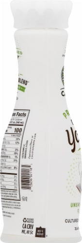 Califia Farms Unsweetened Plain Probiotic Dairy Free Yogurt Drink Perspective: left