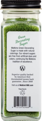 Watkins Green Decorating Sugar Perspective: left