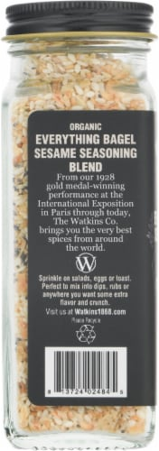 Watkins Organic Everything Bagel Sesame Seasoning Blend Perspective: left