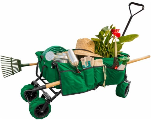 Creative Outdoor All-Terrain Folding Wagon - Green Perspective: left