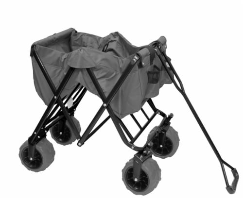 Creative Outdoor All-Terrain Folding Wagon - Gray Perspective: left