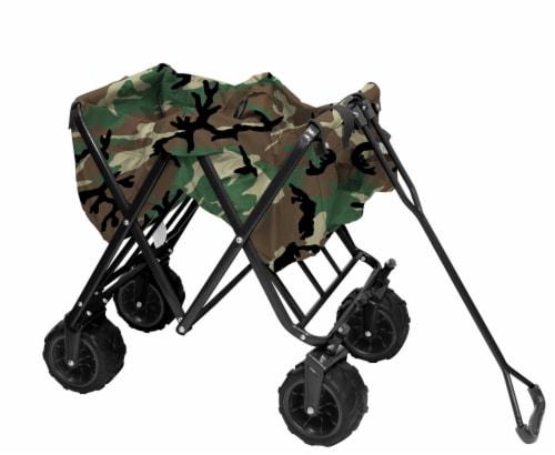 Creative Outdoor All-Terrain Folding Wagon - Camo Perspective: left