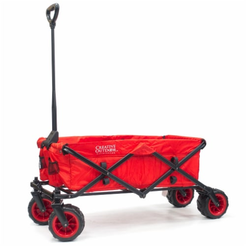 Creative Outdoor All-Terrain Folding Wagon - Red Perspective: left