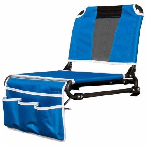 Creative Outdoor 2 in 1 Bleacher Folding Chair - Blue/Black Perspective: left