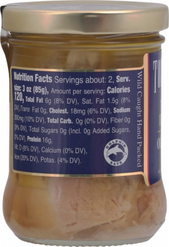 Tonnino Tuna Fillets in Olive Oil Perspective: left