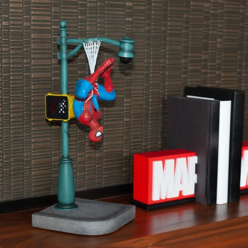 "Marvel Spider-Man Collector Statue | Interactive Spider-Man Figure | 14"" Tall Perspective: left"