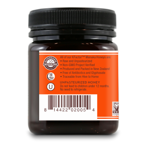 Wedderspoon 100% Raw Manuka Honey Perspective: left