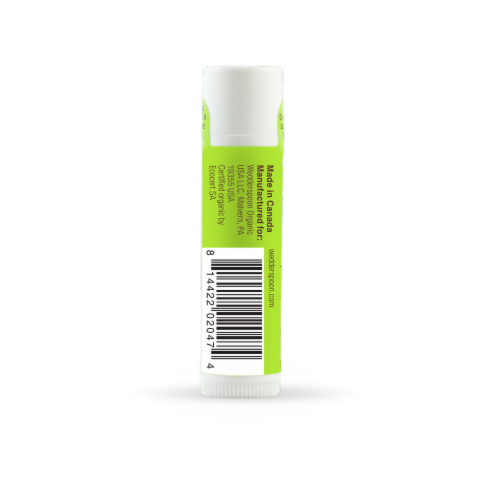 Wedderspoon Organic Lipcare Coconut Lime with Manuka Honey Lip Balm Perspective: left