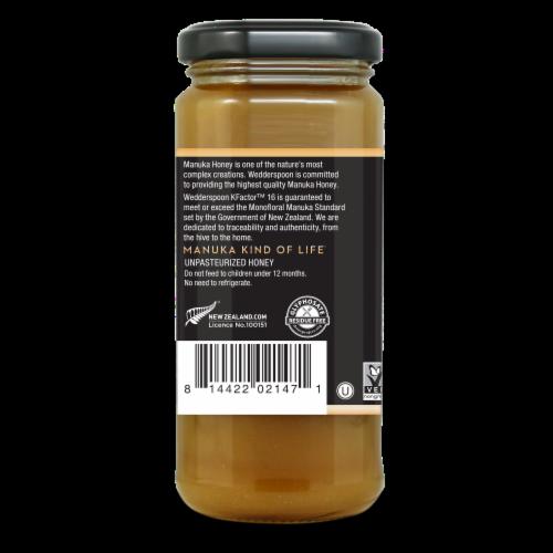 Wedderspoon Gold Raw Monofloral Manuka Honey Perspective: left