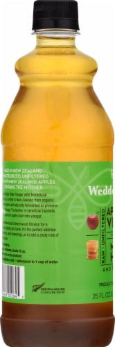 Wedderspoon  Raw Apple Cider Vinegar with KFactor™ 16 Manuka Honey and The Mother Perspective: left
