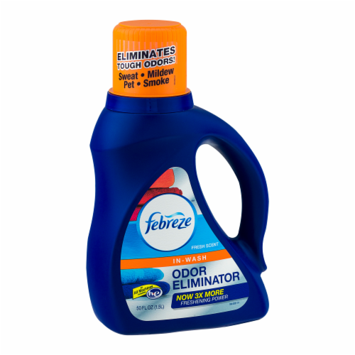 Febreze In-Wash Odor Eliminator Fresh Scent Detergent Perspective: left