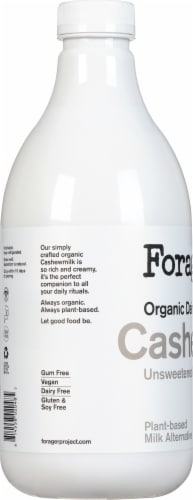 Forager® Project Organic Dairy-Free Unsweetened Cashewmilk Perspective: left