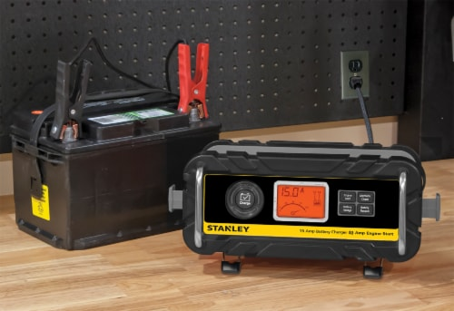 Stanley® 15-Amp Battery Charger with 40-Amp Engine Starter Perspective: left