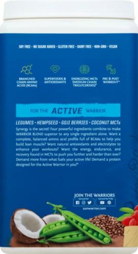Sunwarrior Warrior Blend Plant-Based Vanilla Dietary Supplement Protein Powder Perspective: left