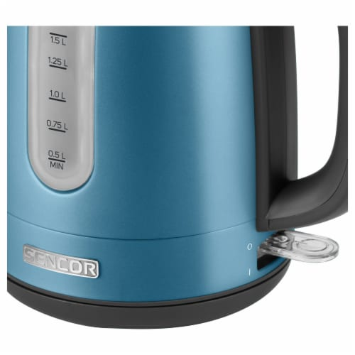 Sencor Stainless Electric Kettle - Blue Perspective: left