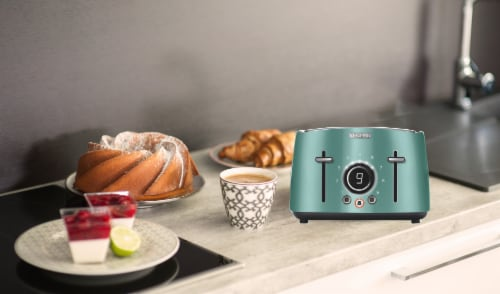 Sencor 4-Slot Toaster with Digital Button and Rack - Green Perspective: left