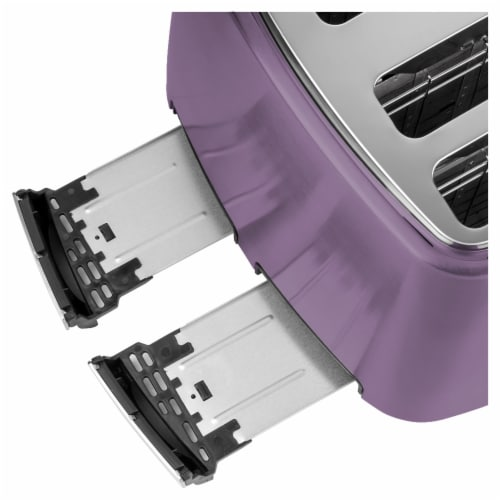 Sencor 4-Slot Toaster with Digital Button and Rack - Violet Perspective: left