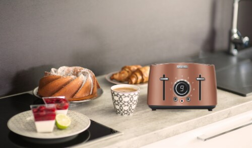 Sencor 4-Slot Toaster with Digital Button and Rack - Gold Perspective: left