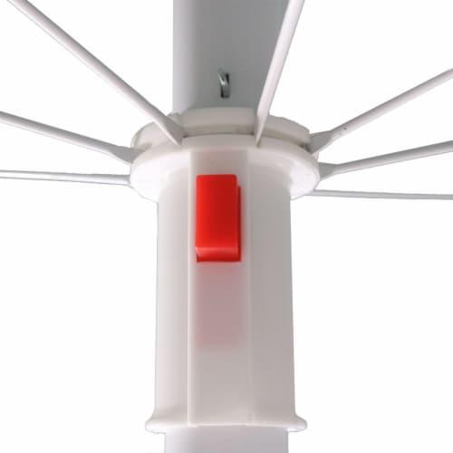 Sunnydaze Beach Umbrella w/ Tilt Function Shaded Comfort - Steel - Red - 5' Perspective: left