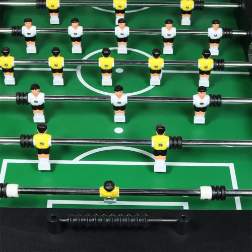 """Sunnydaze 55"""" Foosball Game Table with Drink Holders - Sports Arcade Soccer Perspective: left"""