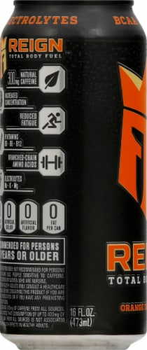 Reign Orange Dreamsicle Energy Drink Perspective: left