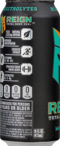 Reign Mang-O-Matic Total Body Fuel Energy Drink Perspective: left