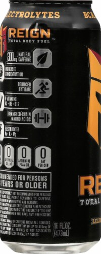 Reign Lilikoi Lychee Energy Drink Perspective: left