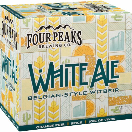 Four Peaks Brewing White Ale Belgian-Style Witbeir Perspective: left