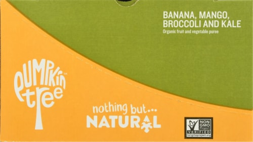 Peter Rabbit Organics Banana Mango Broccoli & Kale Puree Perspective: left