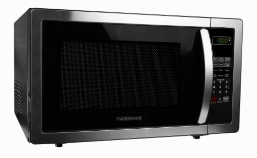 Farberware Classic 1000-Watt High Performance Microwave Oven - Stainless Steel Perspective: left
