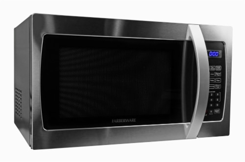 Farberware Professional 1000-Watt Microwave Oven - Stainless Steel Perspective: left