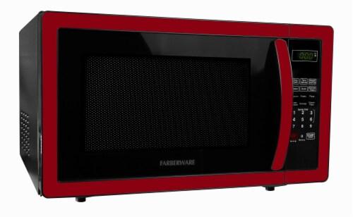 Farberware Classic 1000-Watt Microwave Oven - Metallic Red Perspective: left
