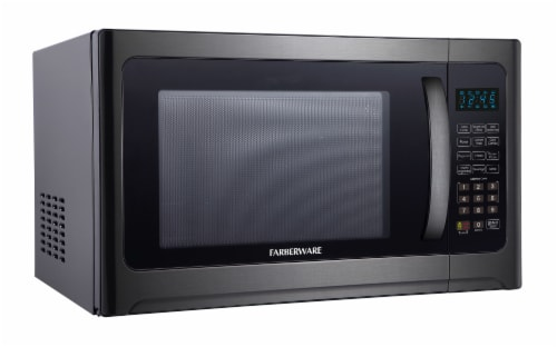 Farberware 1100-Watt Microwave Oven with Grill - Black / Stainless Steel Perspective: left
