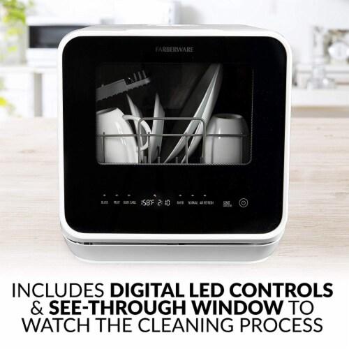 Farberware Professional Countertop Dishwasher - White Perspective: left