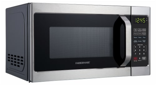 Farberware Classic 700-Watt Microwave Oven - Brushed Stainless Steel Perspective: left